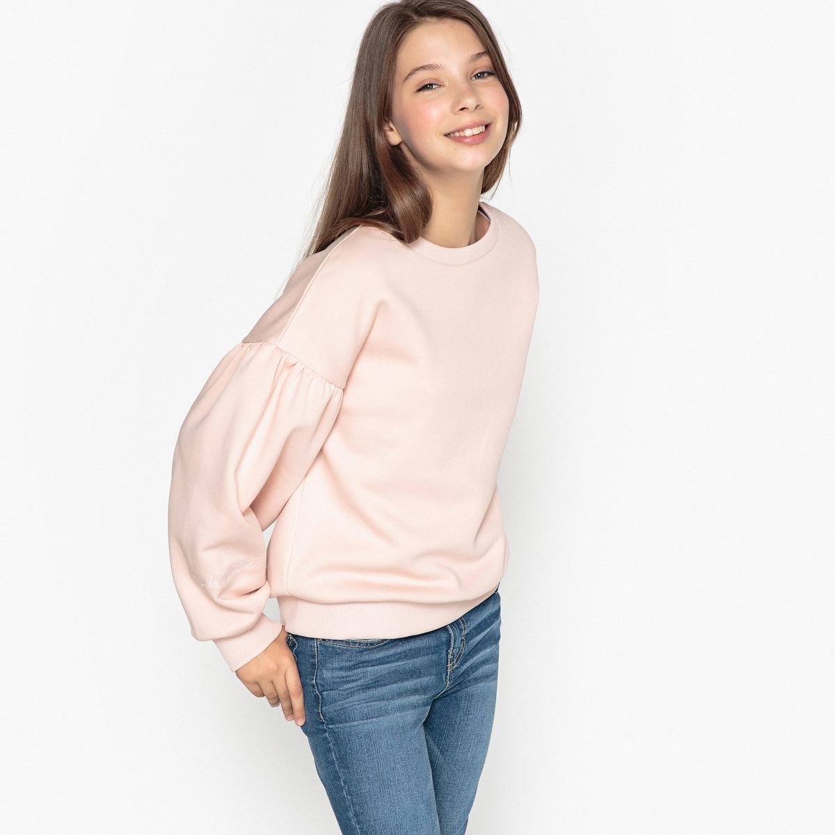 Свитшот La Redoute С длинными рукавами с вышивкой 14 лет - 156 см розовый цены