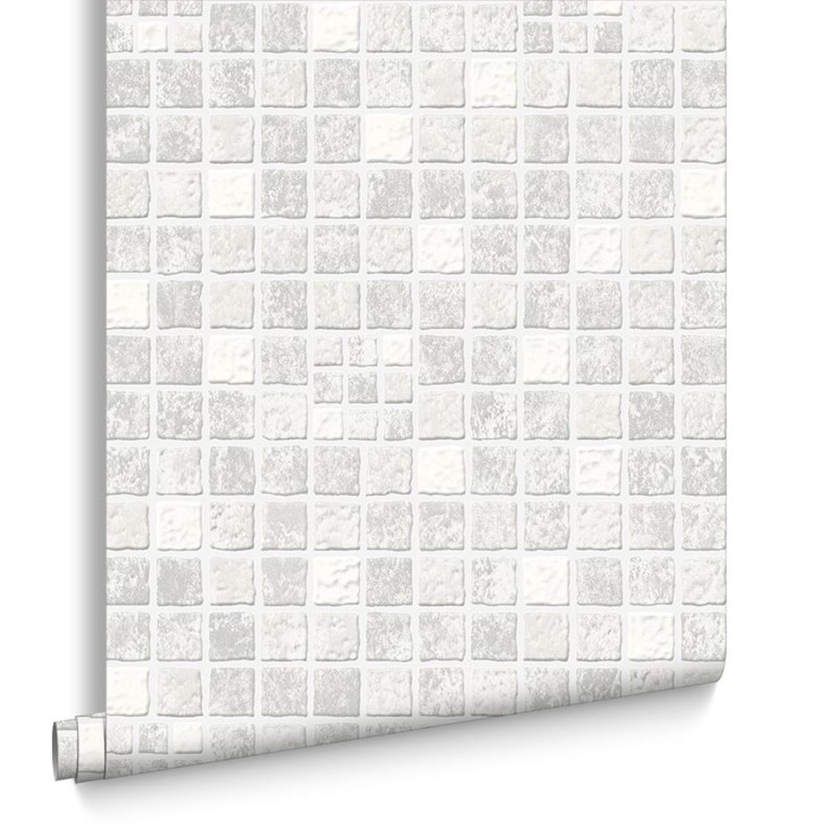 Contour Tönernes Gris Papier Peint Intissé 10 mx52 cm