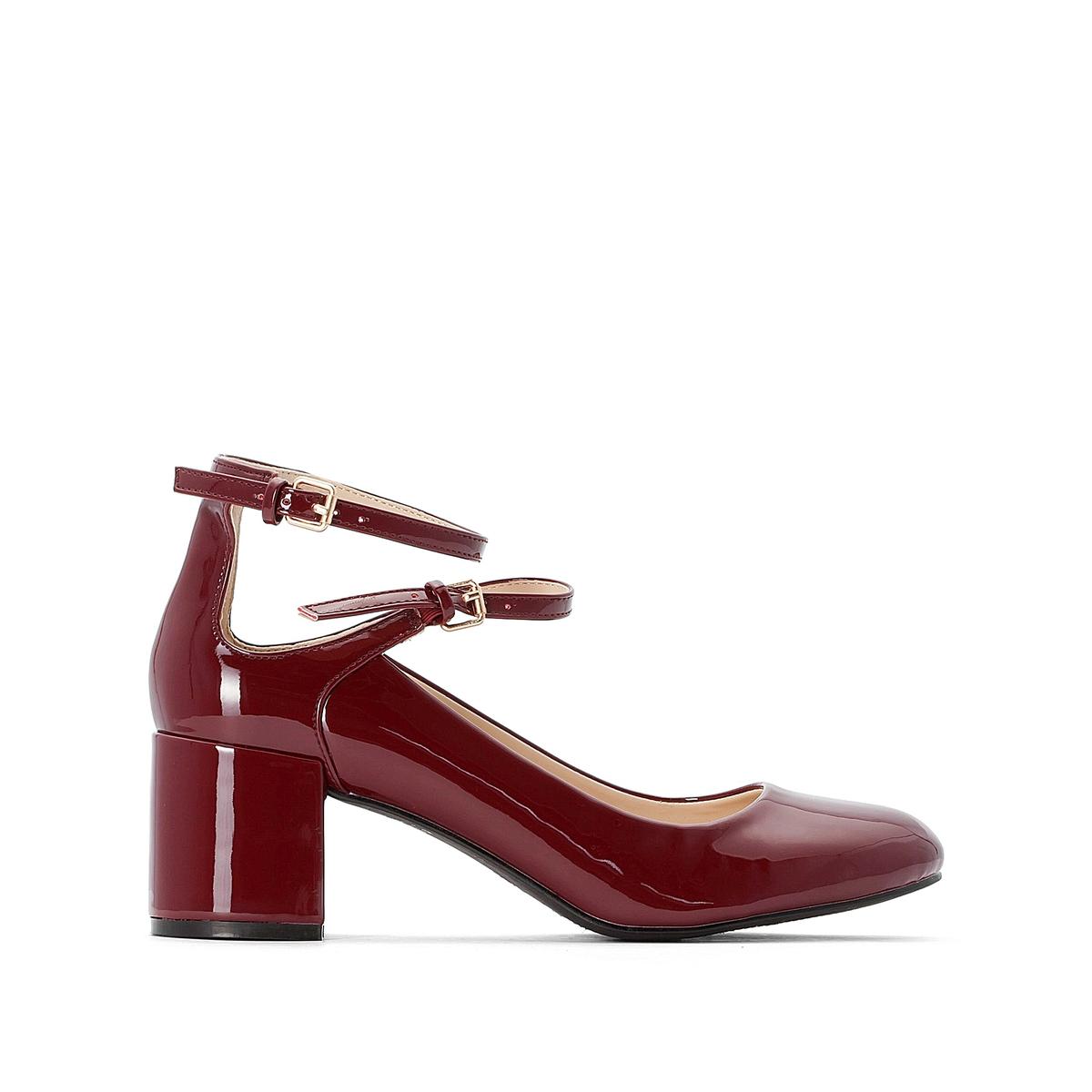 цена на Туфли La Redoute Лакированные подходят для широкой стопы размеры - 42 красный