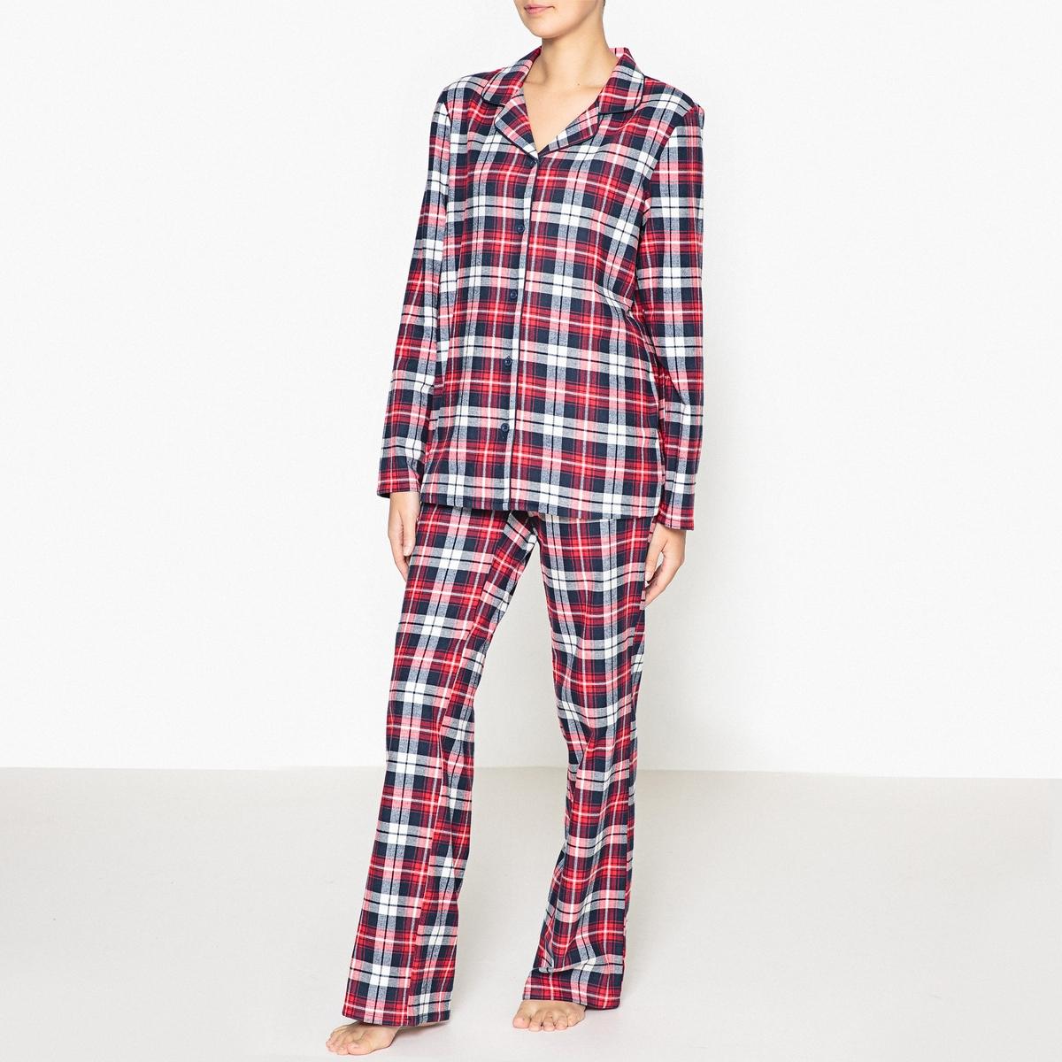 Пижама с рубашкой пижамы la pastel пижама кофта с запахом длинный рукав штаны длинные белый голубой размер xl
