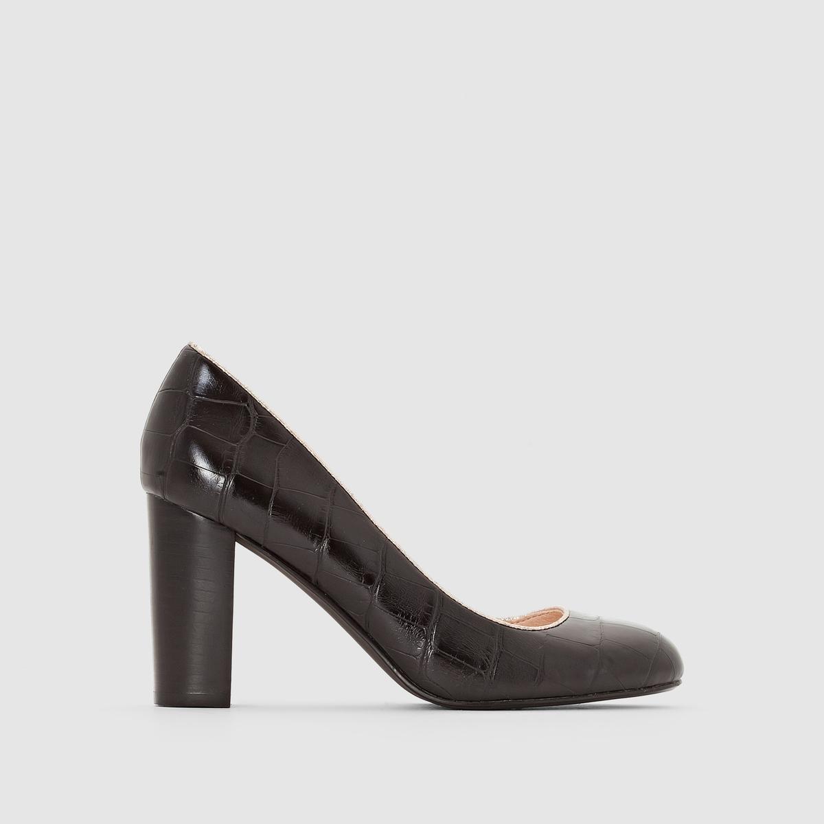 Туфли-лодочки AlexaniaПодкладка: Свиная кожа   Подошва :  Синтетический материал    Высота каблука : 7 - 9 см   Застежка : без застежки<br><br>Цвет: черный<br>Размер: 40.39