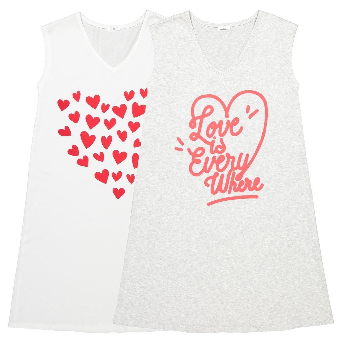 Комплект из 2 свободных футболок для периода беременности LA REDOUTE MATERNITE