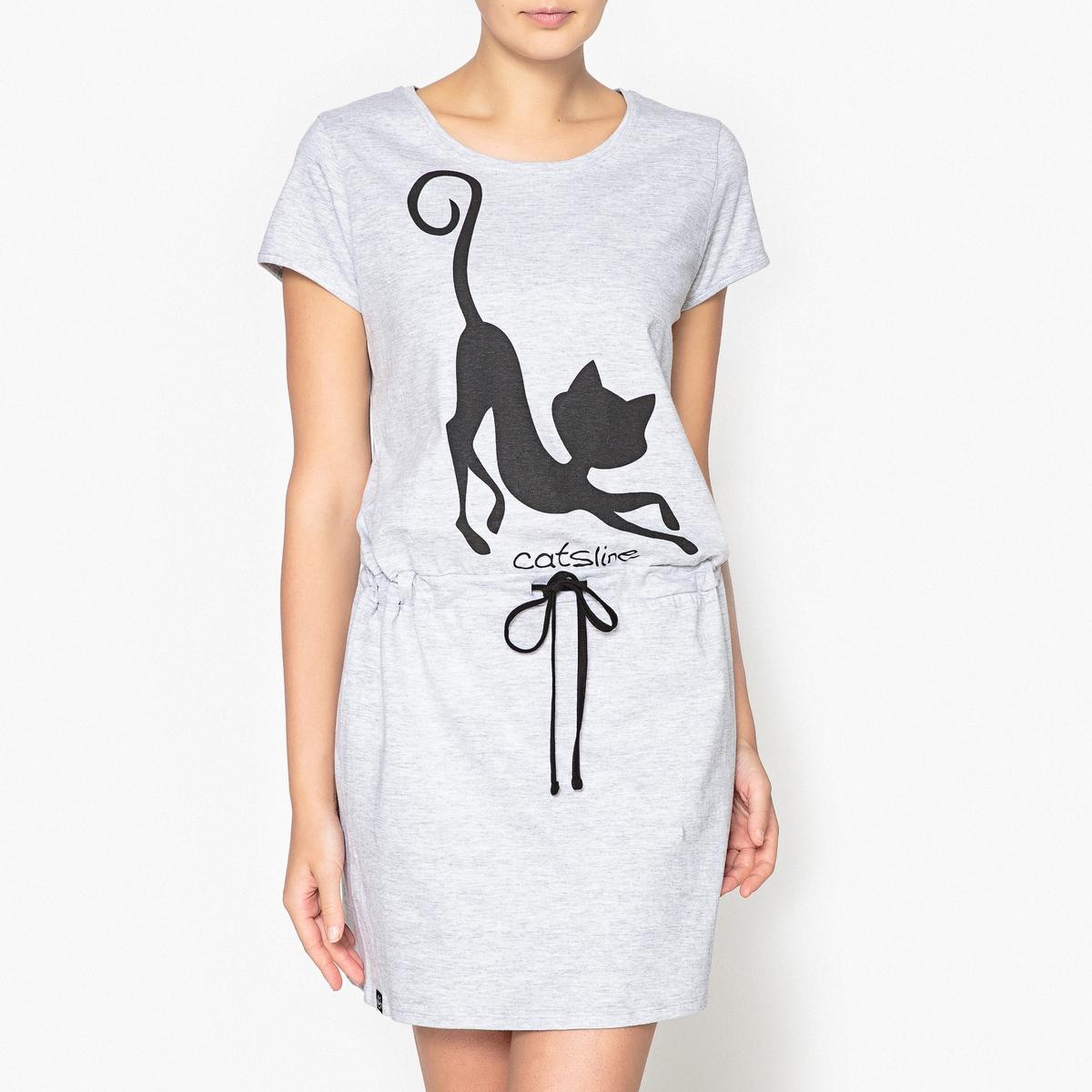 Chemise de nuit imprimée, Catsline
