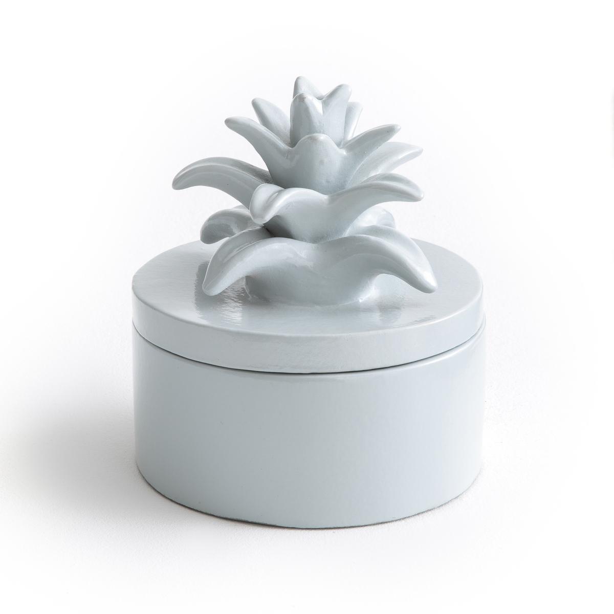 Коробка с крышкой в форме ананаса из керамики LOUPIA freego портативная герметическая коробка мыла пластмассы с крышкой