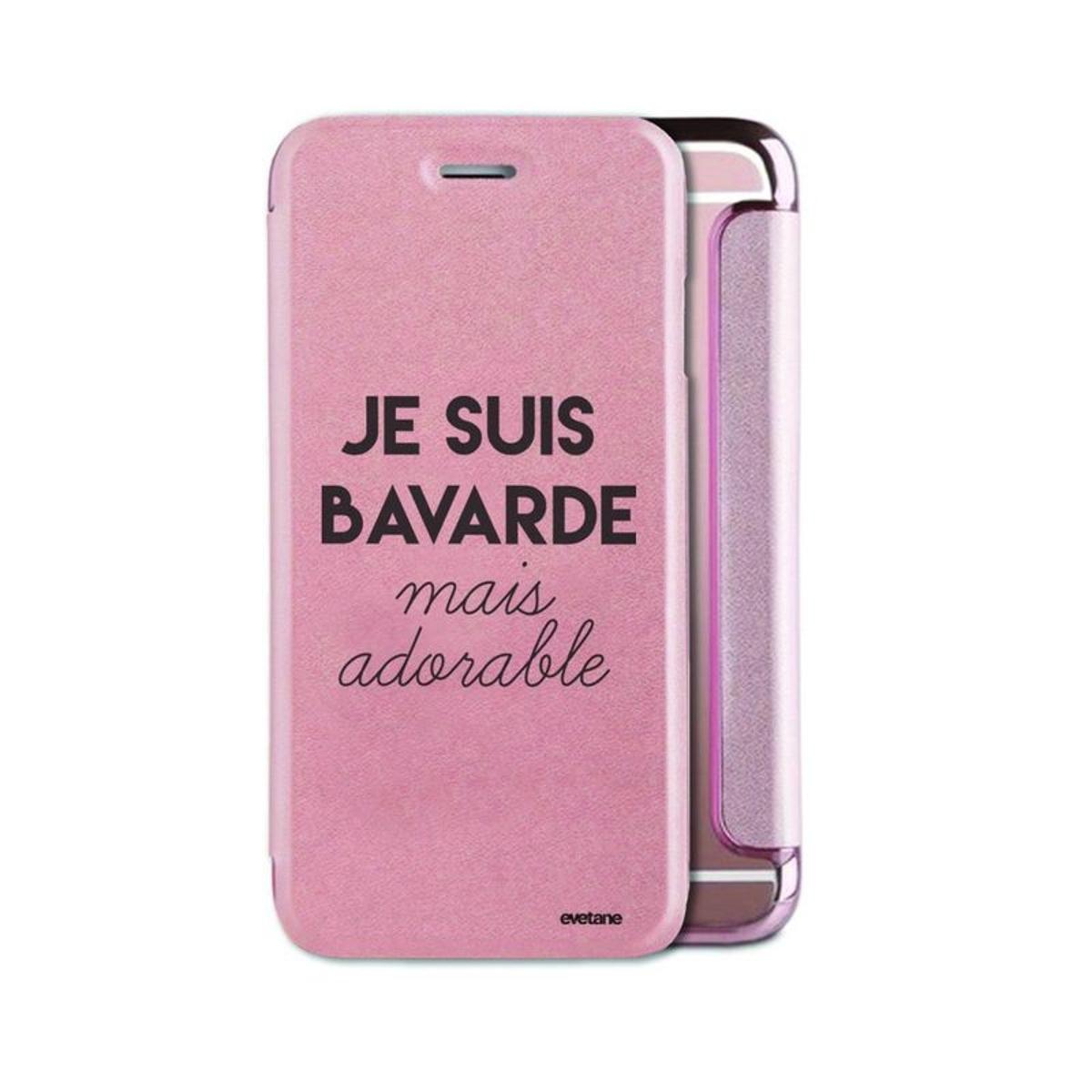 Etui iPhone 6 iPhone 6S souple rose gold, Bavarde Mais Adorable, Evetane®