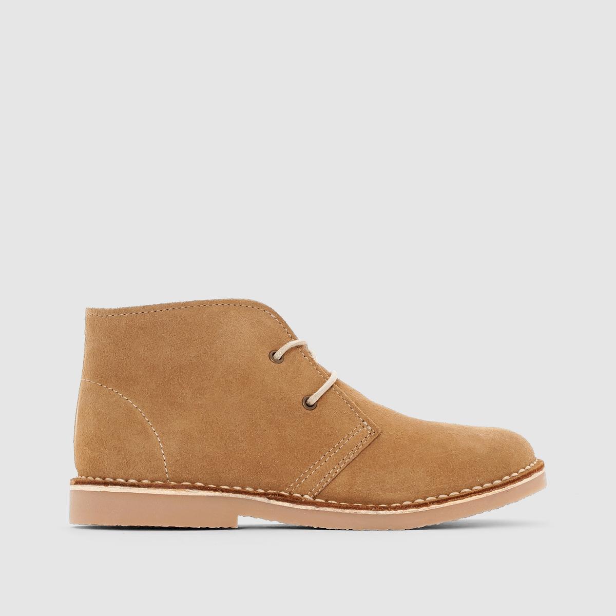 Ботинки из невыделанной кожи
