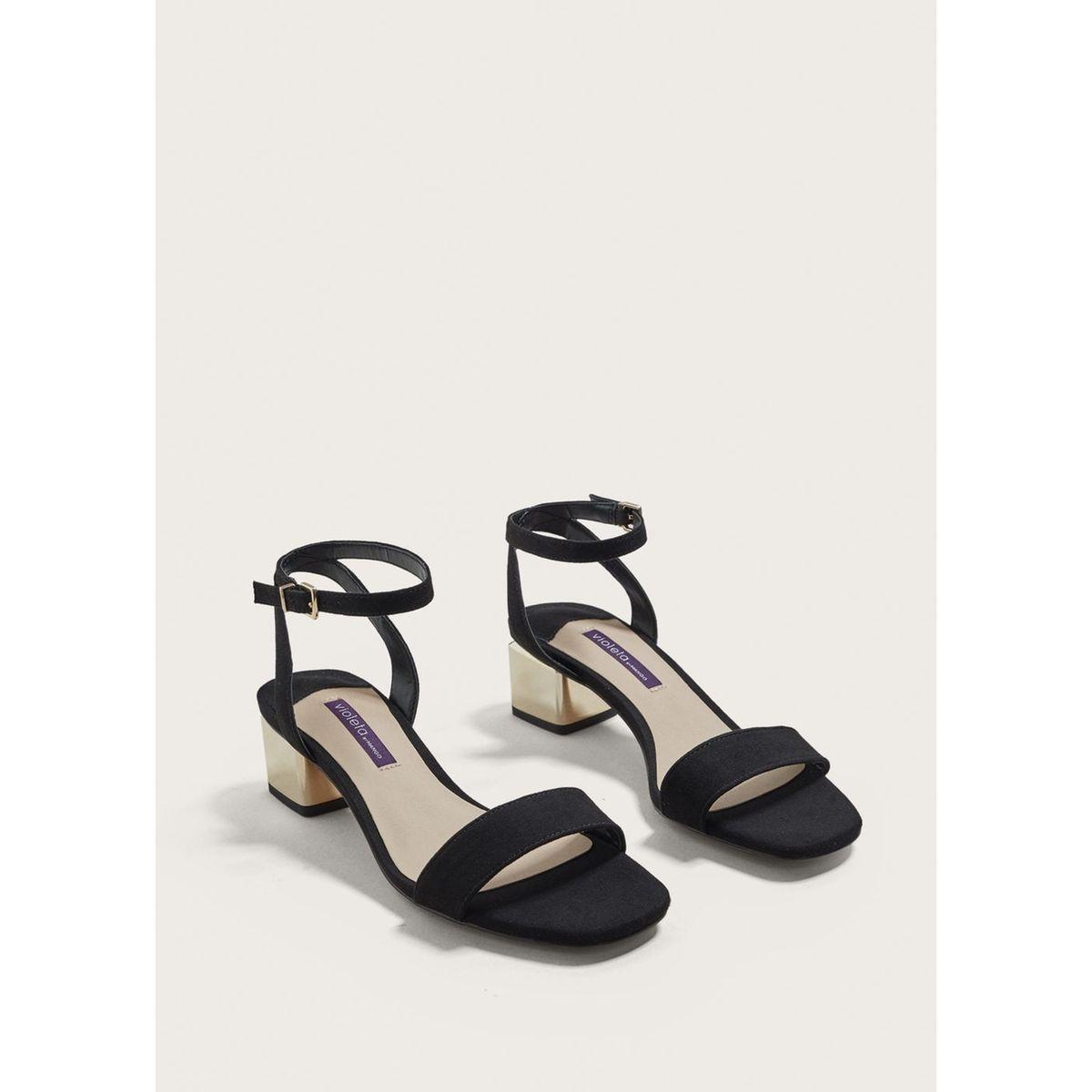 Sandales talon contrastant