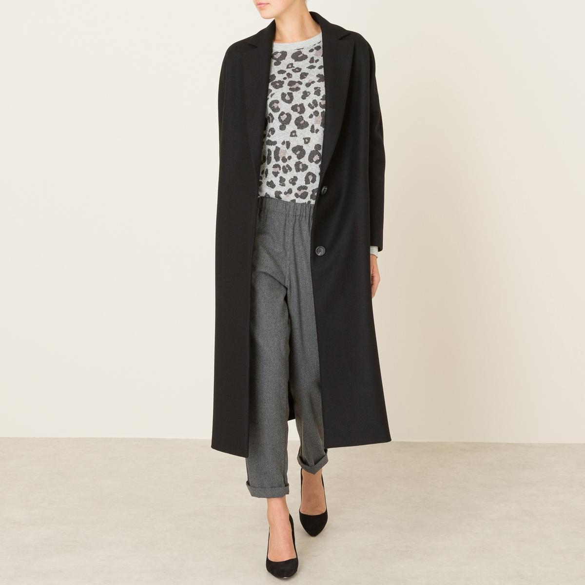 Пальто длинное из шерстяного драпа пальто зимнее из шерстяного драпа