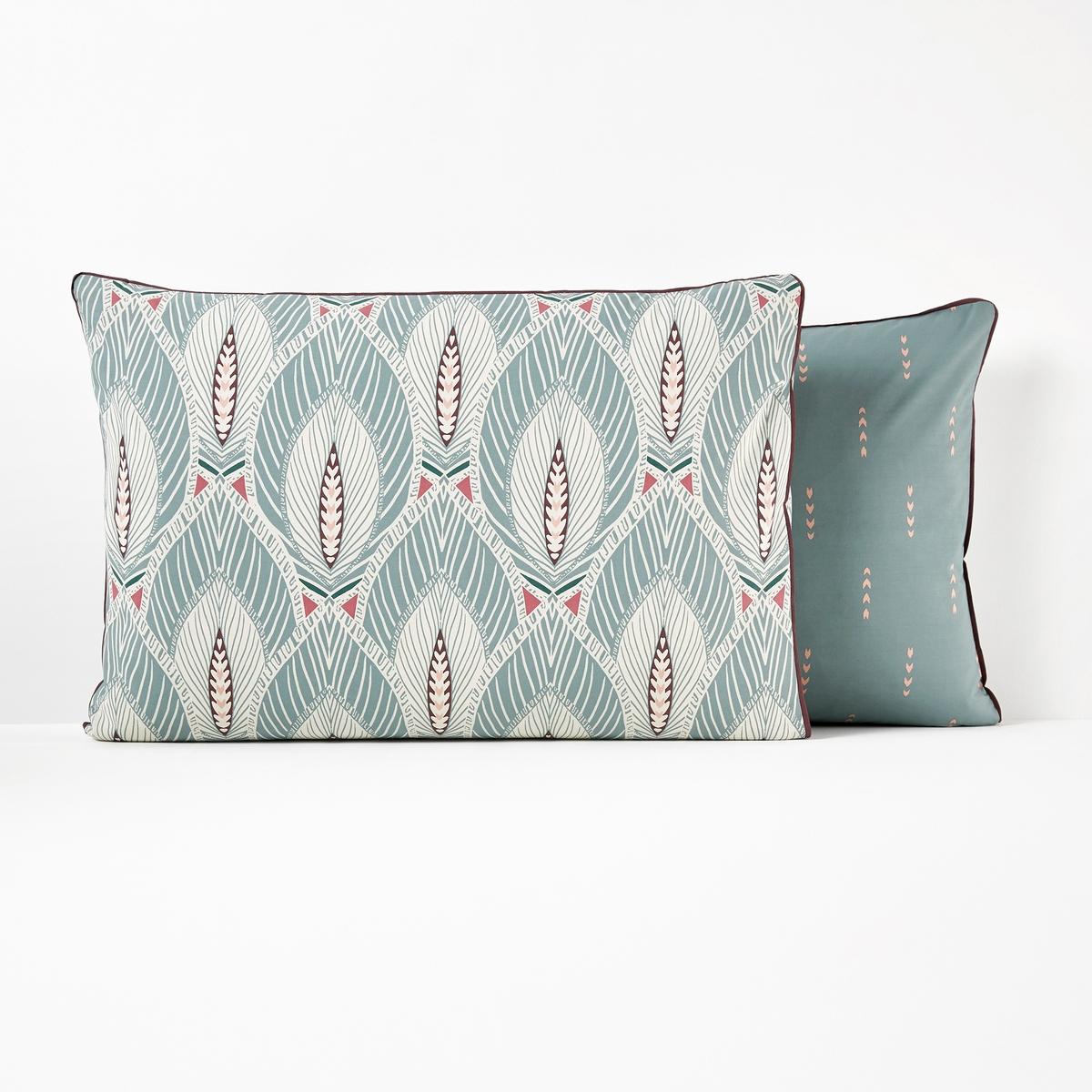 Kissenbezug MARYLEBONE aus Baumwollperkal   Heimtextilien > Bettwäsche und Laken   Blau   La Redoute Interieurs