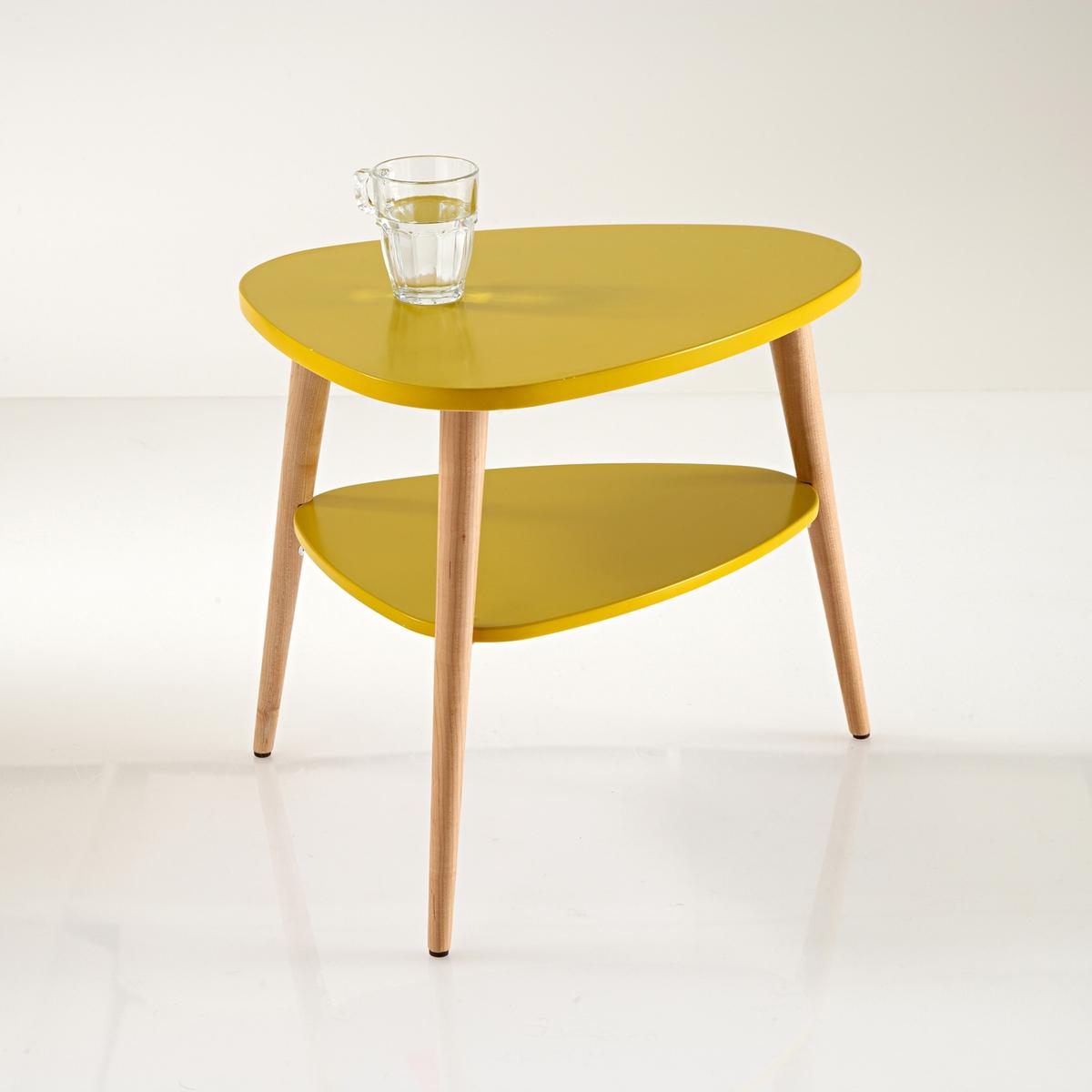 Столик La Redoute Прикроватный в винтажном стиле Jimi единый размер каштановый туалетный la redoute столик clairoy единый размер каштановый