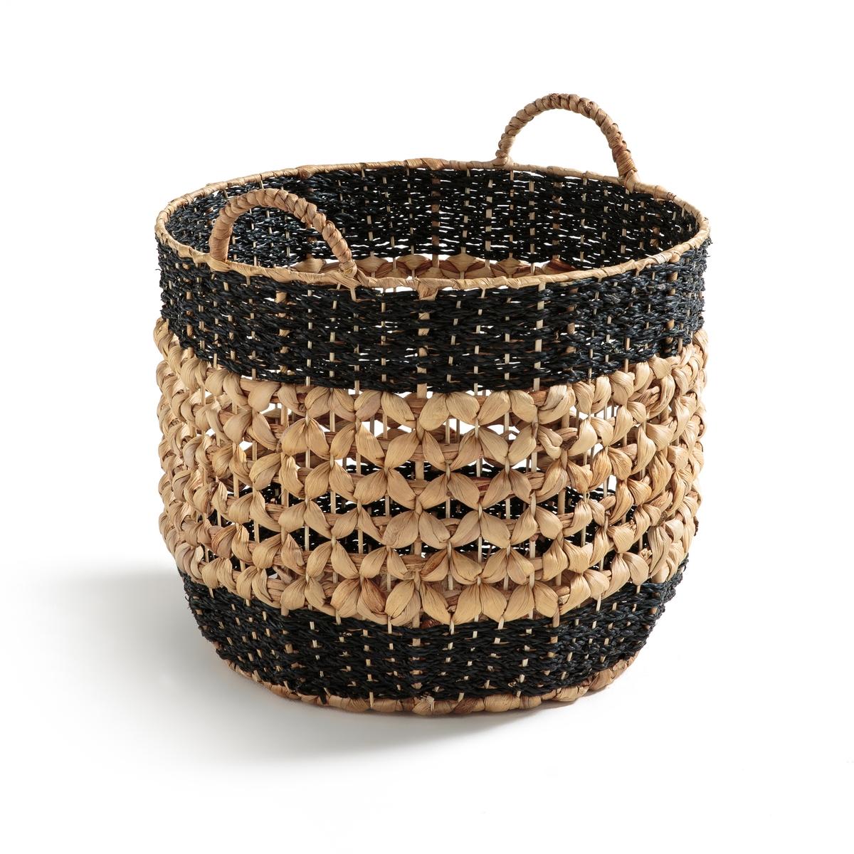 Корзина плетеная для хранения, В38 см, MANOLIОписание:Плетеная корзина для хранения MANOLI. Изготовленная из натурального и легкого в транспортировке материала, эта корзина отличается особой практичностью.Характеристики корзины MANOLI :Из плетеного водного гиацинта, металлический каркас с 2 ручками, круглая формаРазмеры корзины MANOLI :Диаметр : 40 см Высота : 38 см<br><br>Цвет: черный/ экрю