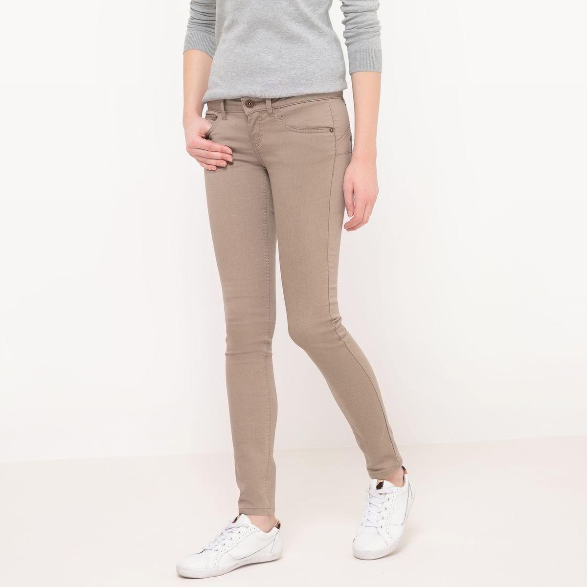 Pantalon slim, taille normale, effet push-up