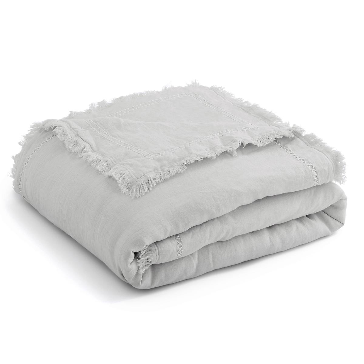 Покрывало La Redoute Из льна сшитое вручную Domitien 180 x 230 см серый комплект из полотенце для la redoute рук из хлопка и льна nipaly 50 x 100 см белый