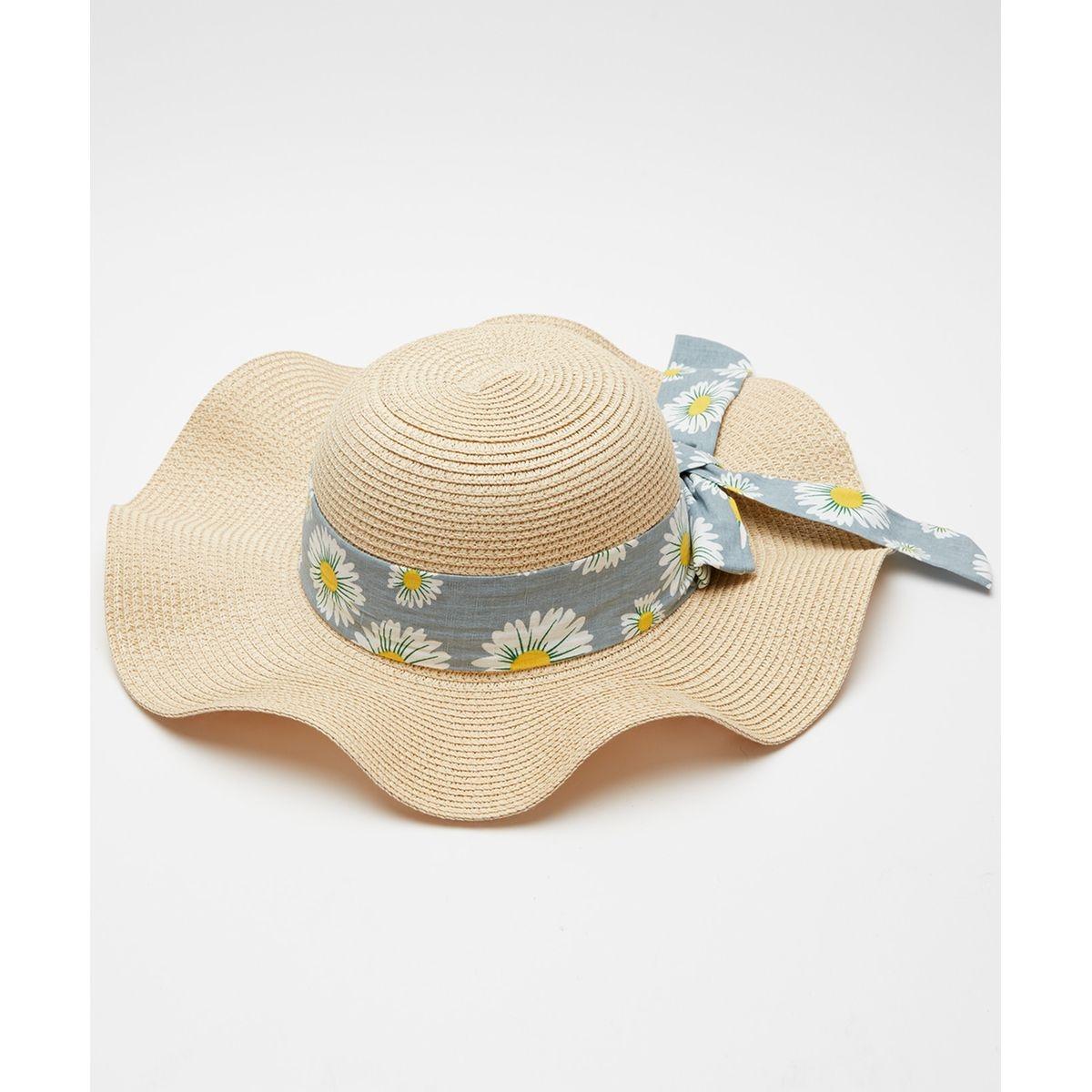 Chapeau d'ete imprime marguerite