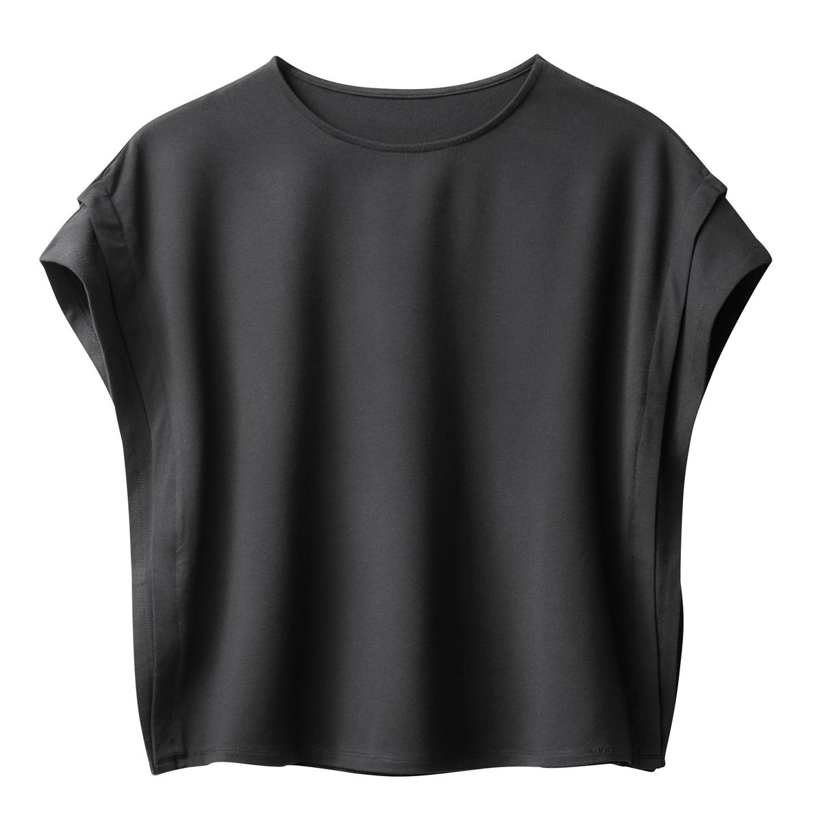 T-shirt plissada dos lados
