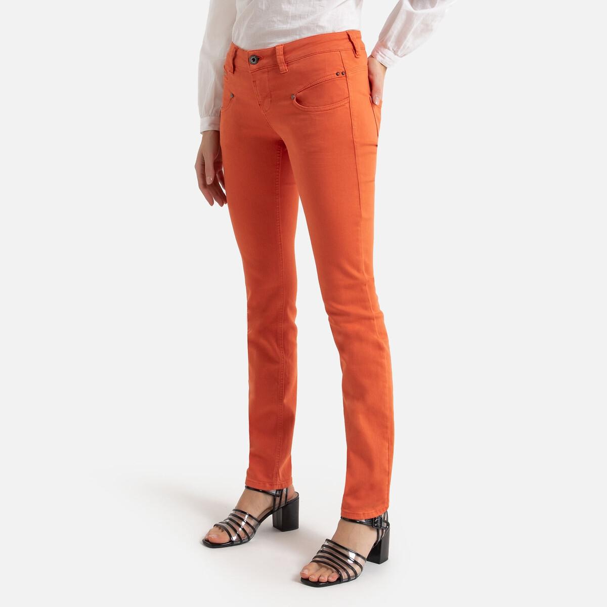Джинсы La Redoute Узкие ALEXA NEW MAGIC COLOR S оранжевый