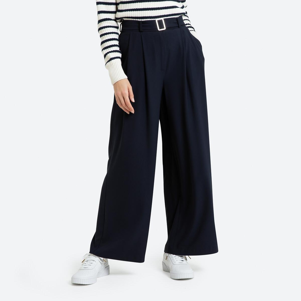 Pantalon extra large, avec ceinture