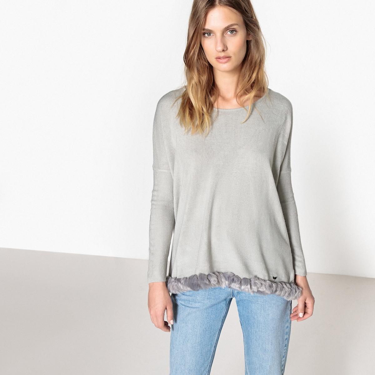 цена  Пуловер с круглым вырезом из тонкого трикотажа  онлайн в 2017 году
