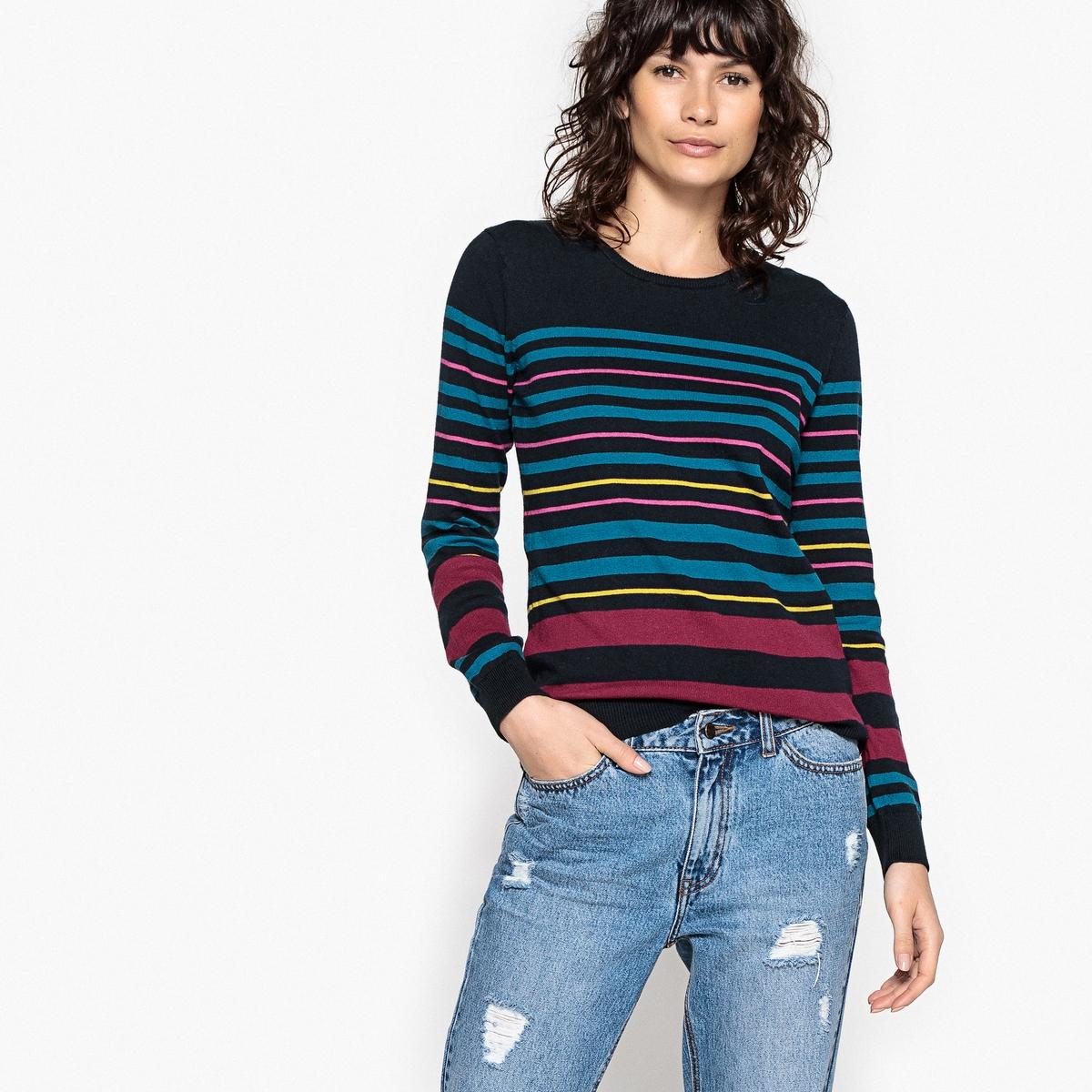Пуловер в разноцветную полоску кардиган в разноцветную полоску catimini ут 00011664