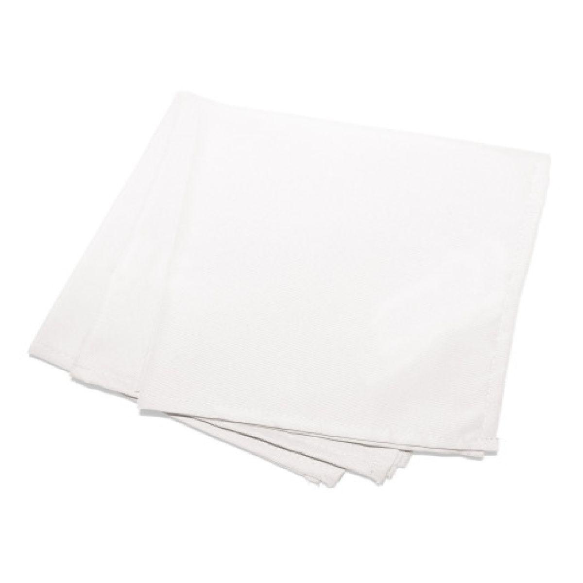 3 Serviettes de table  40 x 40 cm blanc