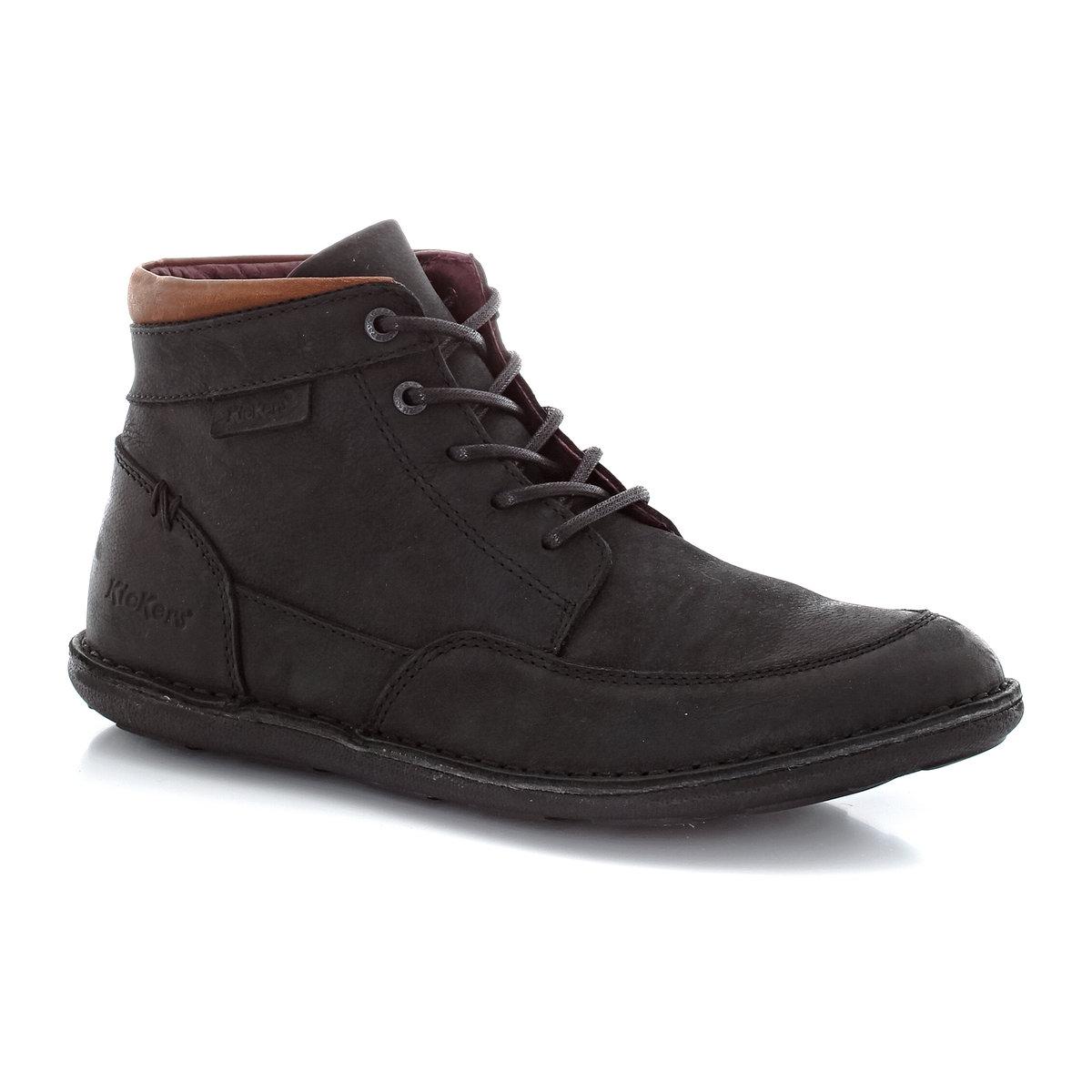 Ботинки из кожи со шнуровкойБотинки Swiforrys от Kickers из кожи со шнуровкой. Верх: телячья кожа. Подкладка: кожа. Стелька: кожа. Подошва.: каучук. Застежка: шнуровка. Высота верха: 6,5 см Отличные кожаные ботинки для любой дороги - удобство и качество от Kickers!<br><br>Цвет: черный<br>Размер: 40.41