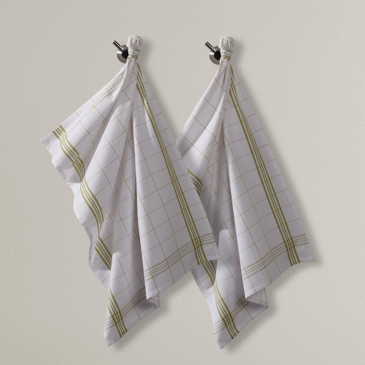 Комплект из 2 кухонных полотенец в клетку полотенца кухонные la pastel комплект кухонных полотенец gabel 6пр 50x70 primizie