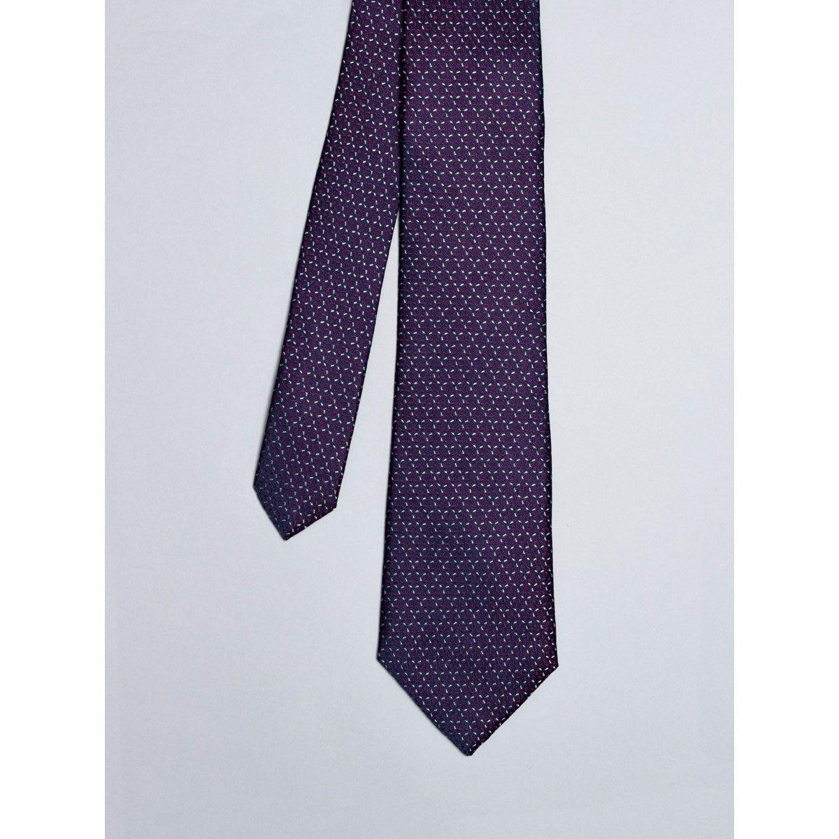 Cravate bleu marine avec motifs étoiles