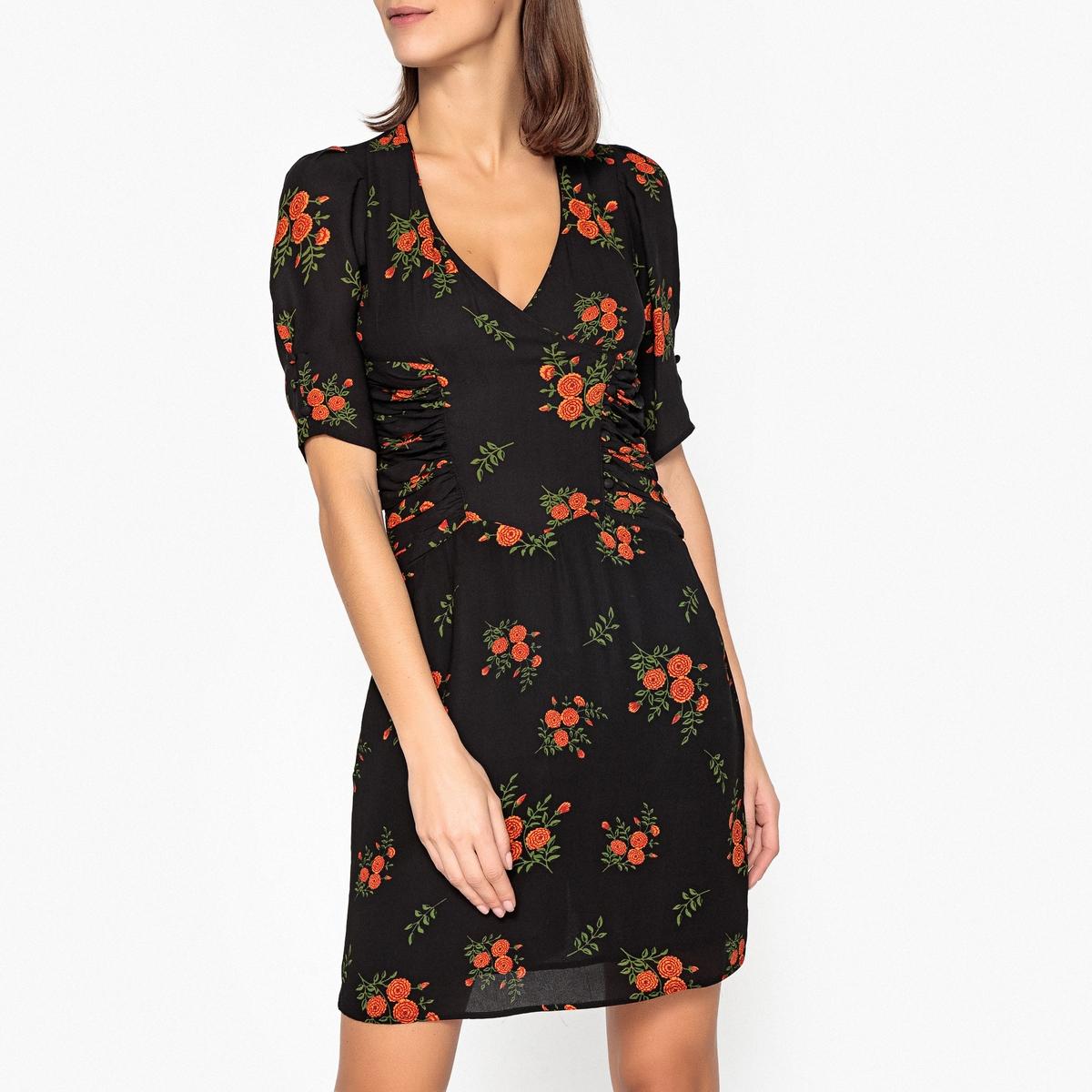 Платье расклешенное с цветочным принтом ESTHER электрокастрюля esther