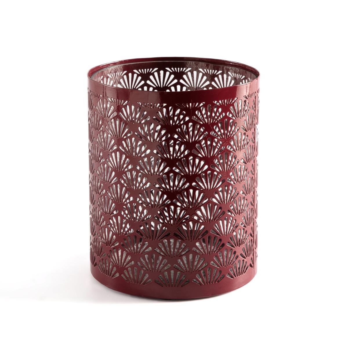 Подсвечник La Redoute Декоративный металлический Fani единый размер красный