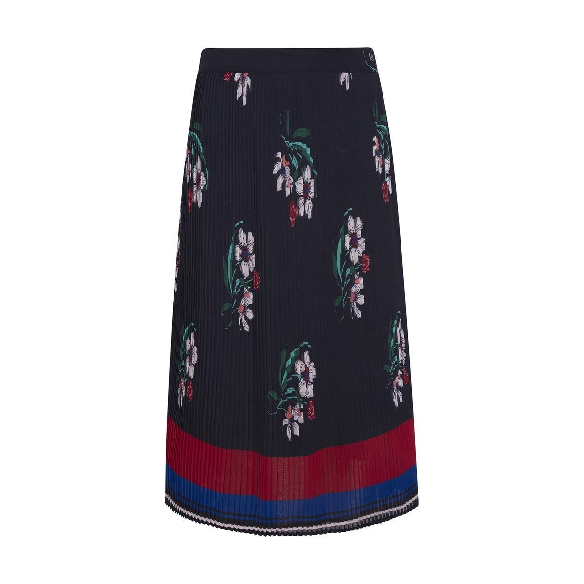 Falda midi plisada de flores Nini