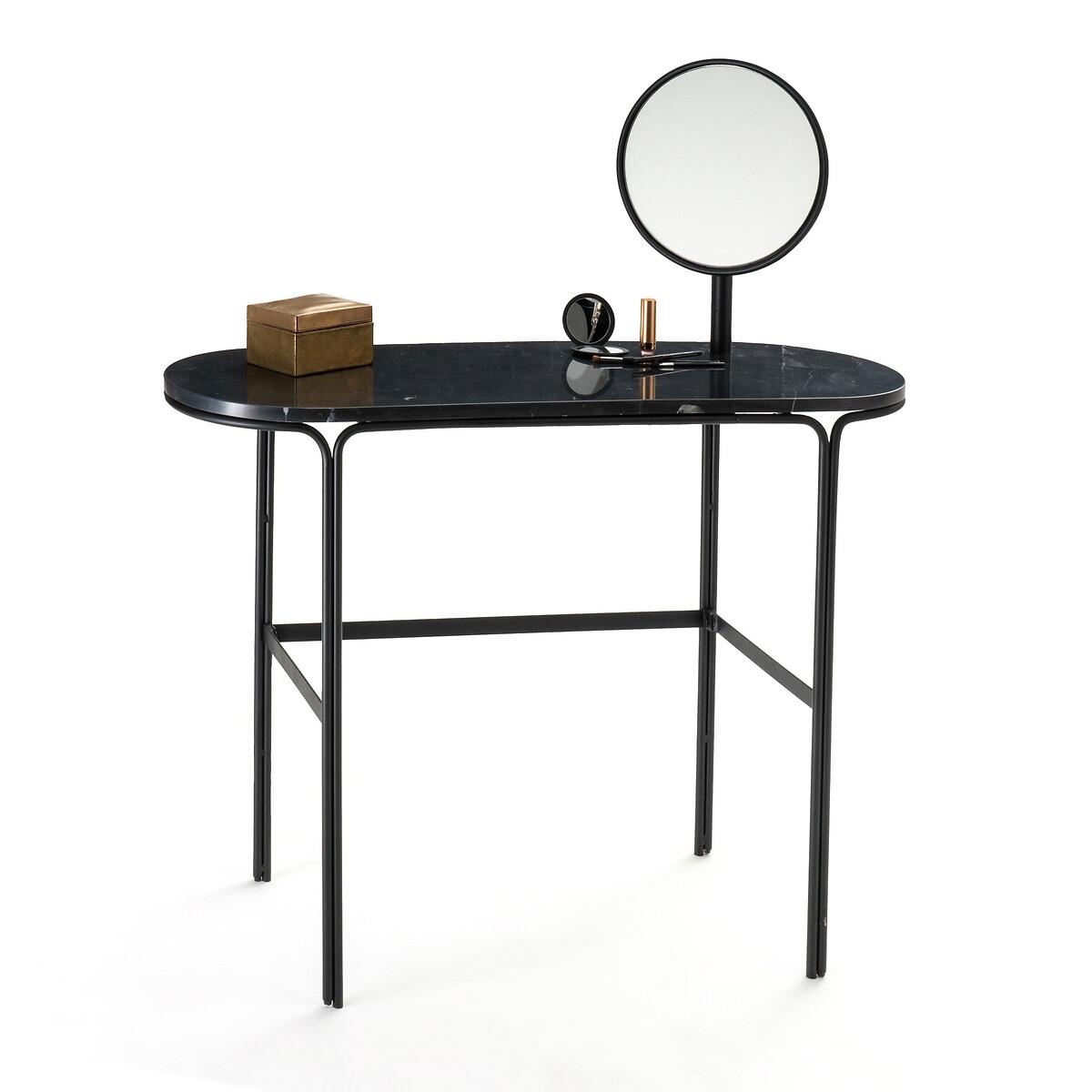 Столик LaRedoute Туалетный из мрамора и металла Moricio единый размер черный