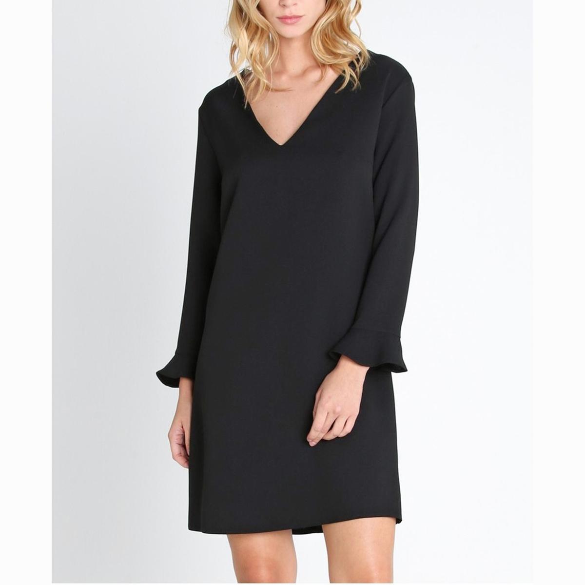 Платье короткое DAVOСостав и описание :Материал : 100% полиэстерМарка :<br><br>Цвет: черный