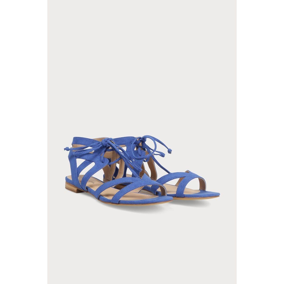 Sandales plates à laçage