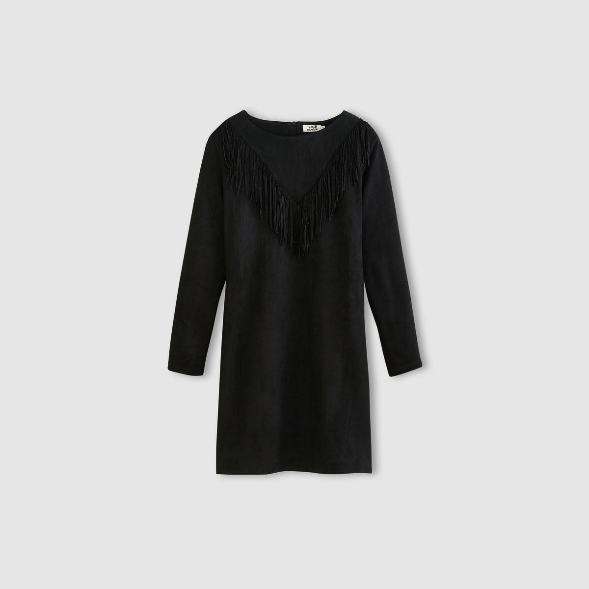 Платье короткое прямого покрояСостав и описание :Материал : 85% вискозы, 15% полиэстераМарка : MOLLY BRACKEN<br><br>Цвет: черный<br>Размер: L