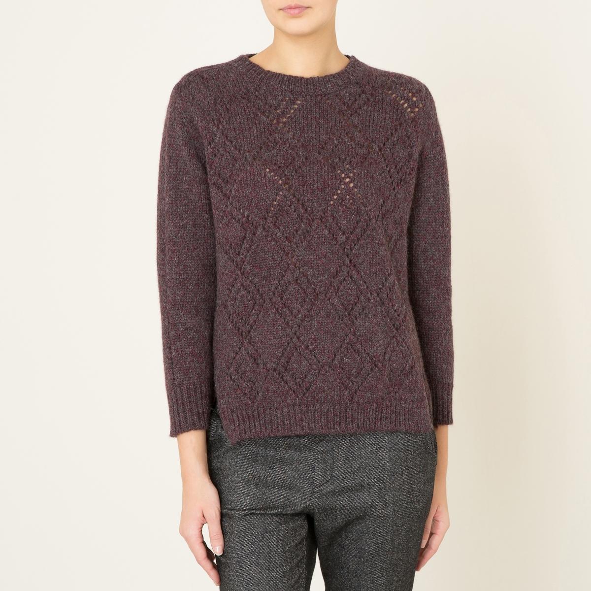 Пуловер ALYETTEСостав и описание    Материал : 64% шерсти, 30% альпаки, 6% полиамида   Длина : посередине сзади 61 см. (для размера S)   Марка : SOEUR<br><br>Цвет: бордовый<br>Размер: S