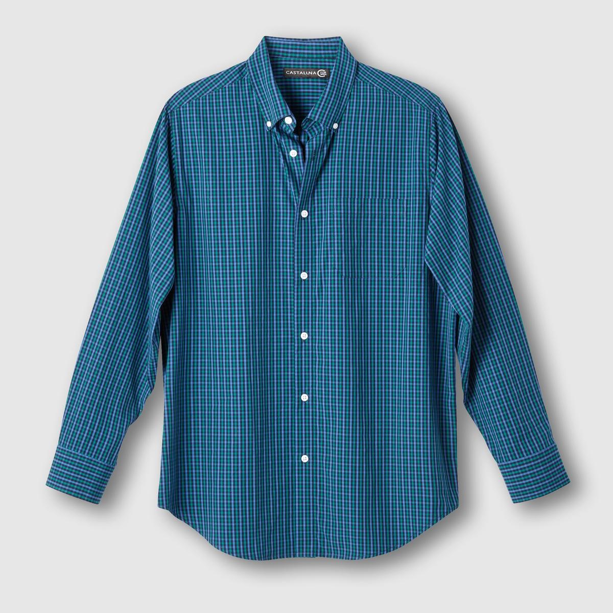 Рубашка в клетку<br><br>Цвет: синий/ зеленый<br>Размер: 55/56