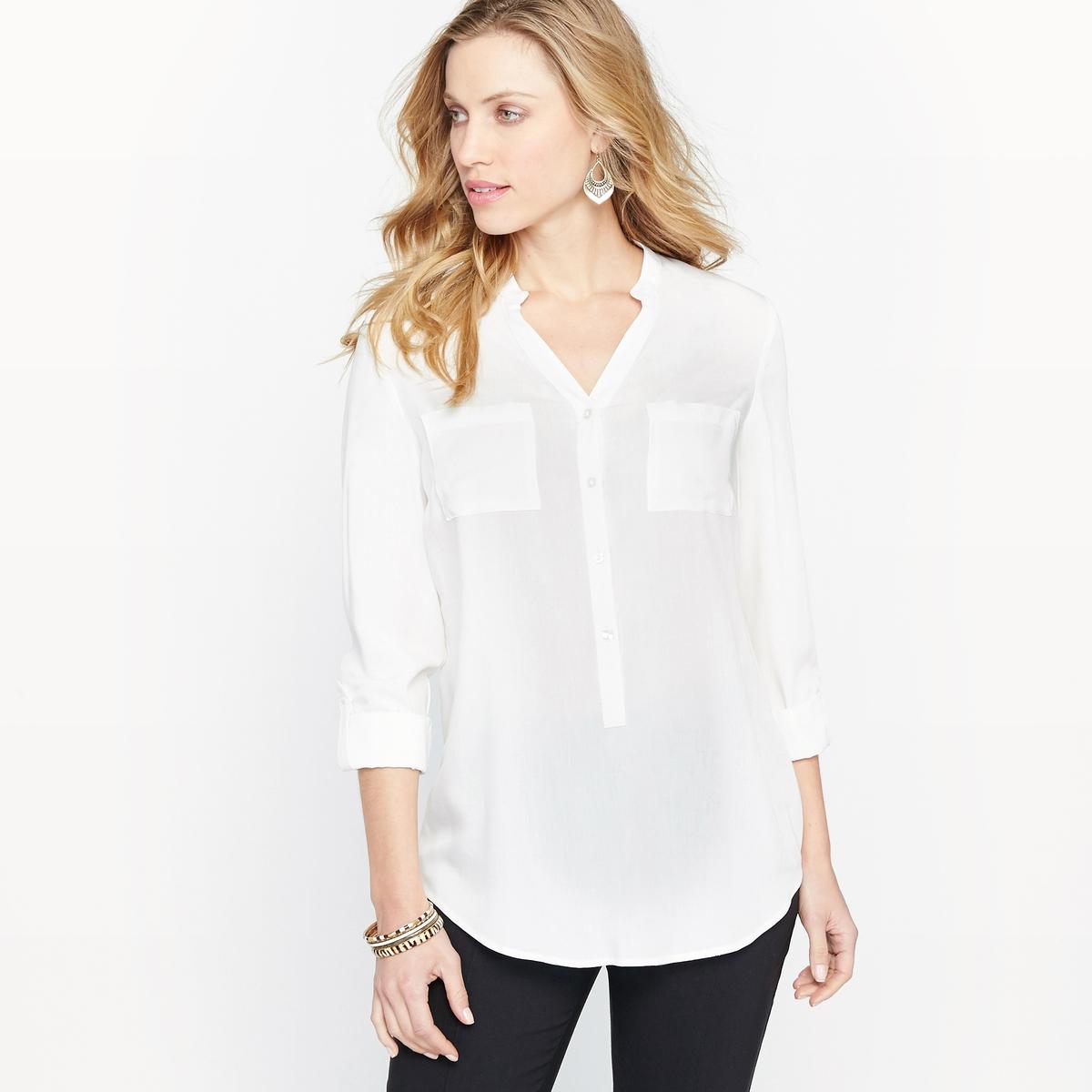 Блузка-туника с круглым вырезом