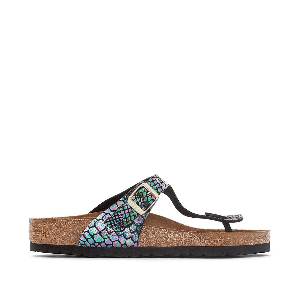 Туфли без задника с рисунком под кожу змеи GIZEH