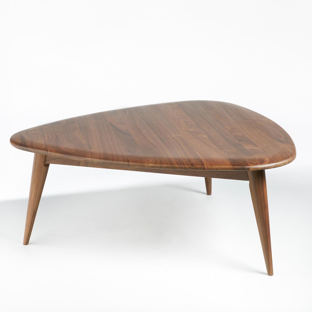 Столик La Redoute Журнальный из массива орехового дерева Tholeine маленькая модель единый размер каштановый