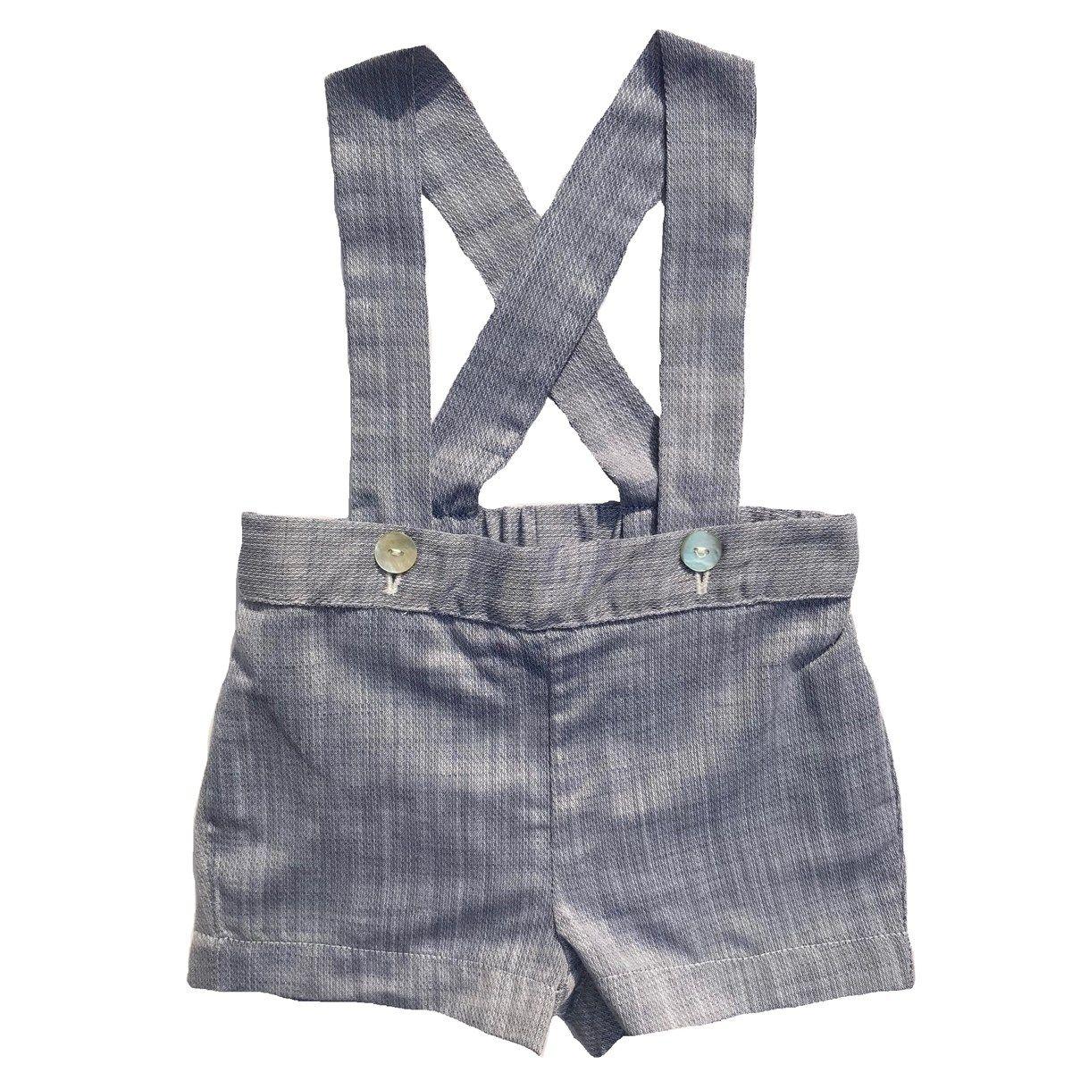 Culotte courte à bretelles en coton ALFRED
