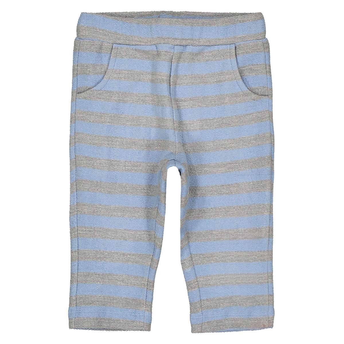 Брюки в полоску - 1 мес. - 3 годаОписание:Детали •  Спортивные брюки •  Стандартная высота пояса •  Рисунок в полоску   •  Эластичный поясСостав и уход •  80% хлопка, 20% полиэстера •  Стирать при 40° •  Сухая чистка и отбеливатели запрещены • Барабанная сушка на слабом режиме       •  Низкая температура глажки<br><br>Цвет: синий + серый<br>Размер: 6 мес. - 67 см.3 мес. - 60 см.2 года - 86 см.9 мес. - 71 см.1 мес. - 54 см.18 мес. - 81 см.3 года - 94 см.1 год - 74 см