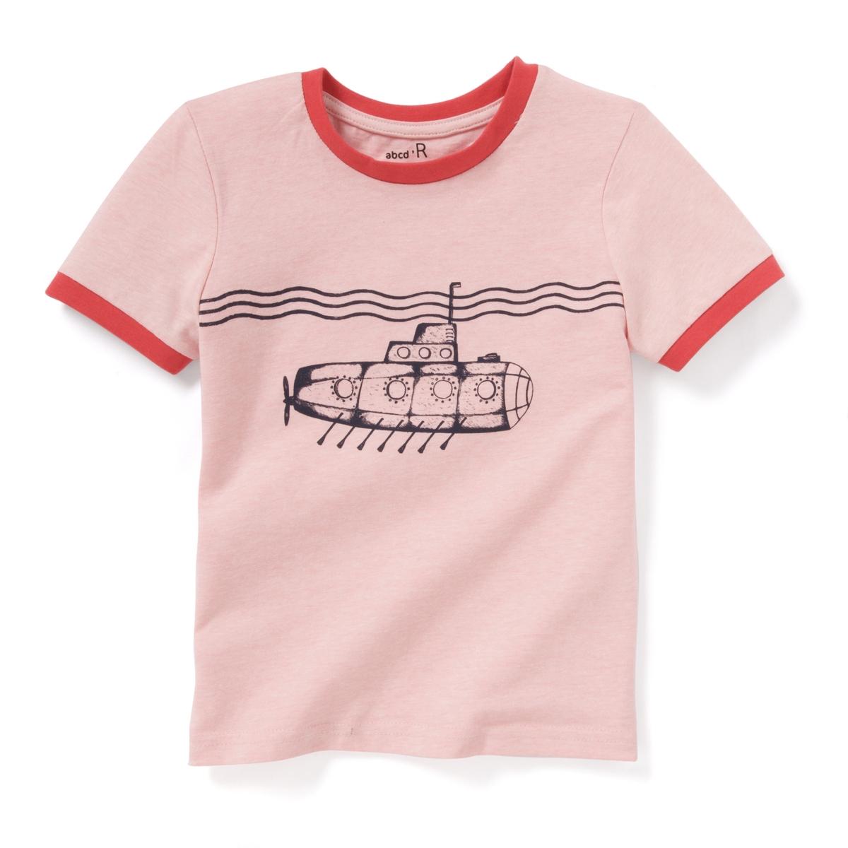 Футболка с рисунком подводная лодка 3-12 лет