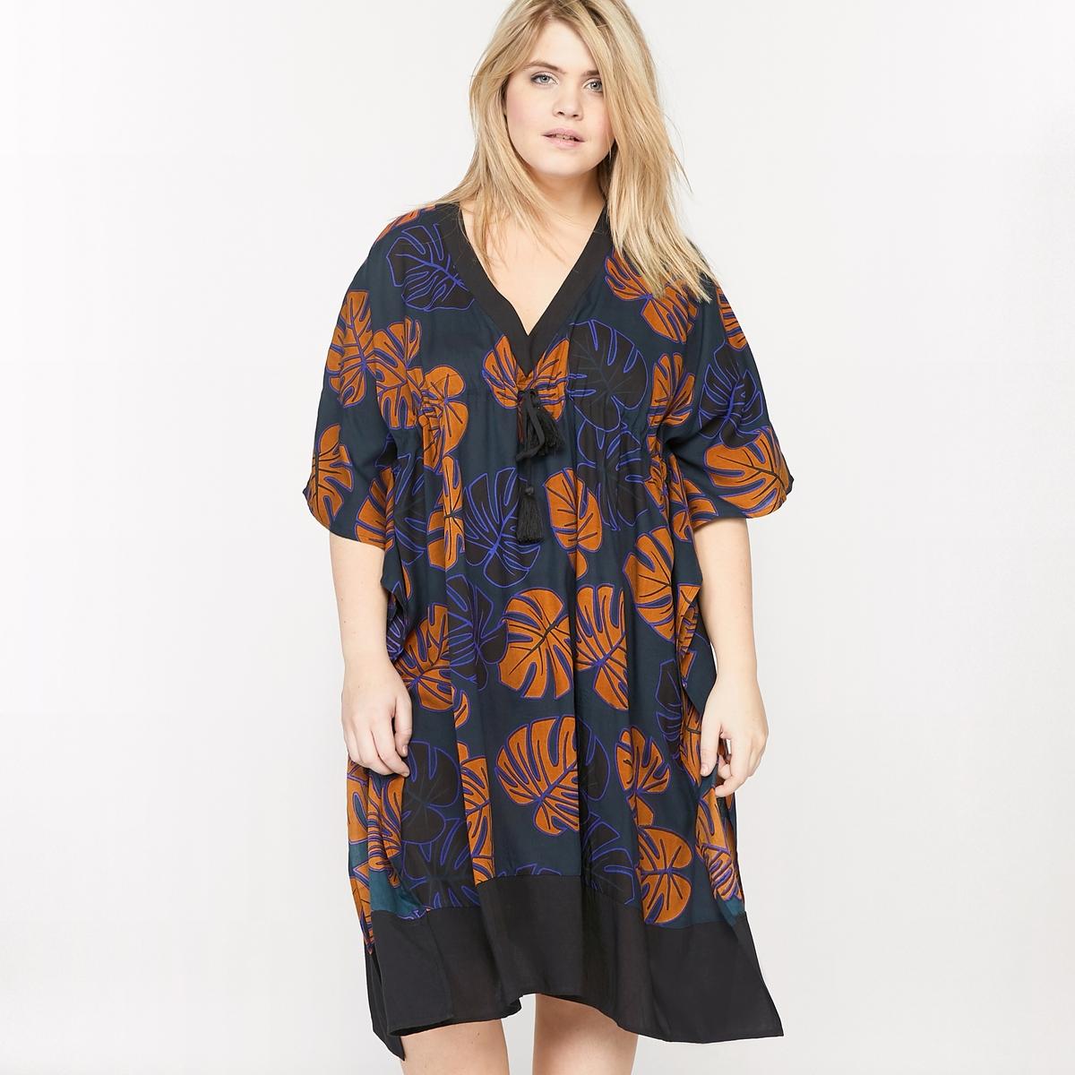 Платье кафтан с рисунком