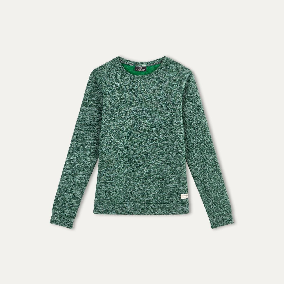 Пуловер меланжевыйСостав и описание    Материал : 75% хлопка, 25% полиэстера   Марка : SCOTCH AND SODA<br><br>Цвет: зеленый меланж