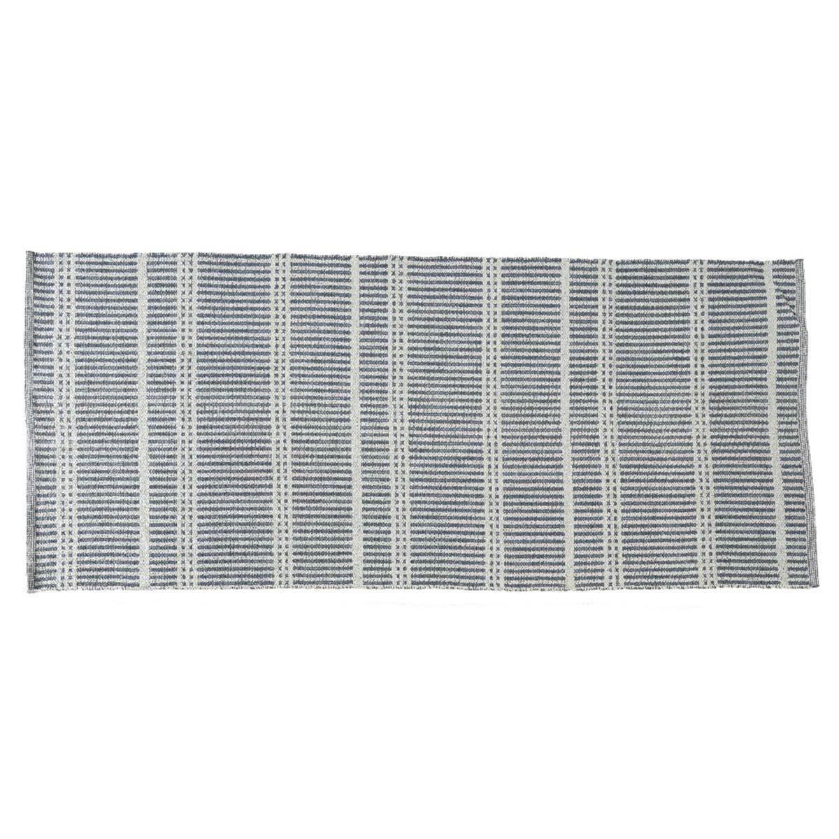 Tapis rectangulaire en PVC 180 x 120 cm motifs rayures fines - Jardideco