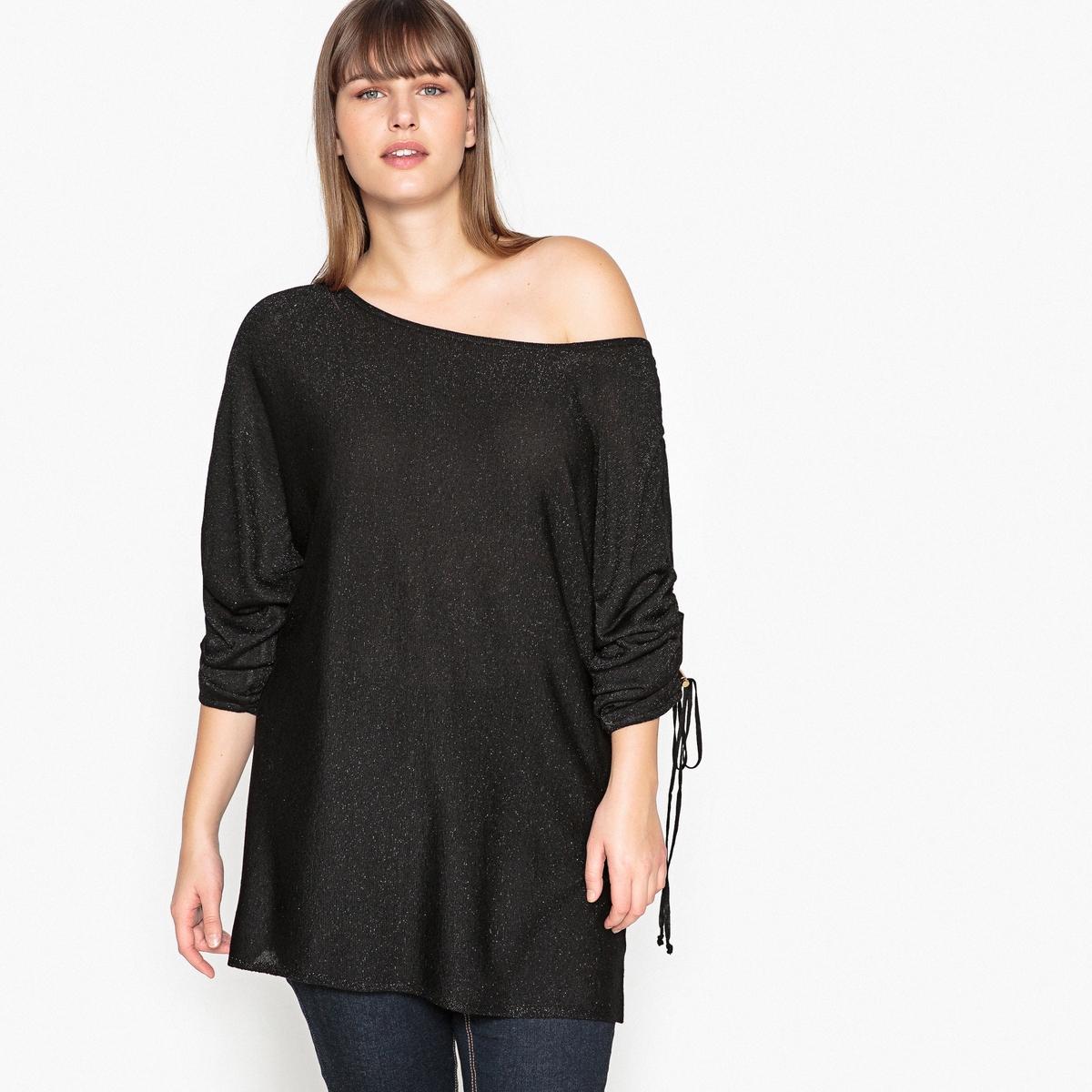 купить Пуловер с вырезом-лодочкой из тонкого трикотажа по цене 3079.3 рублей