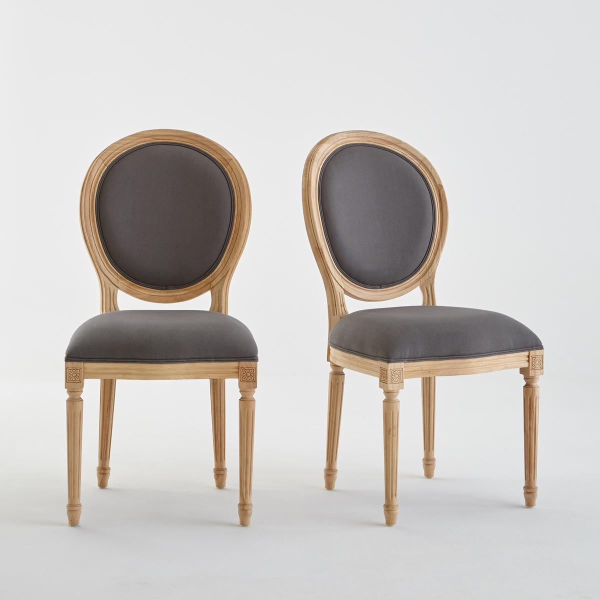 купить Комплект из стульев Nottingham La Redoute В стиле Людовика XVI единый размер серый по цене 47749 рублей