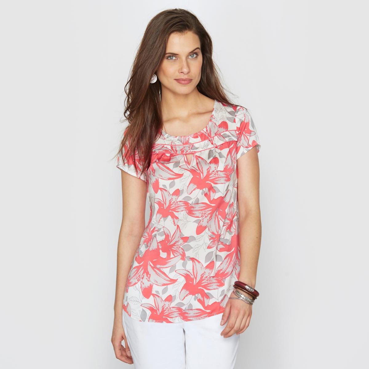 Блузка из струящегося сатина, прикосновение шёлка