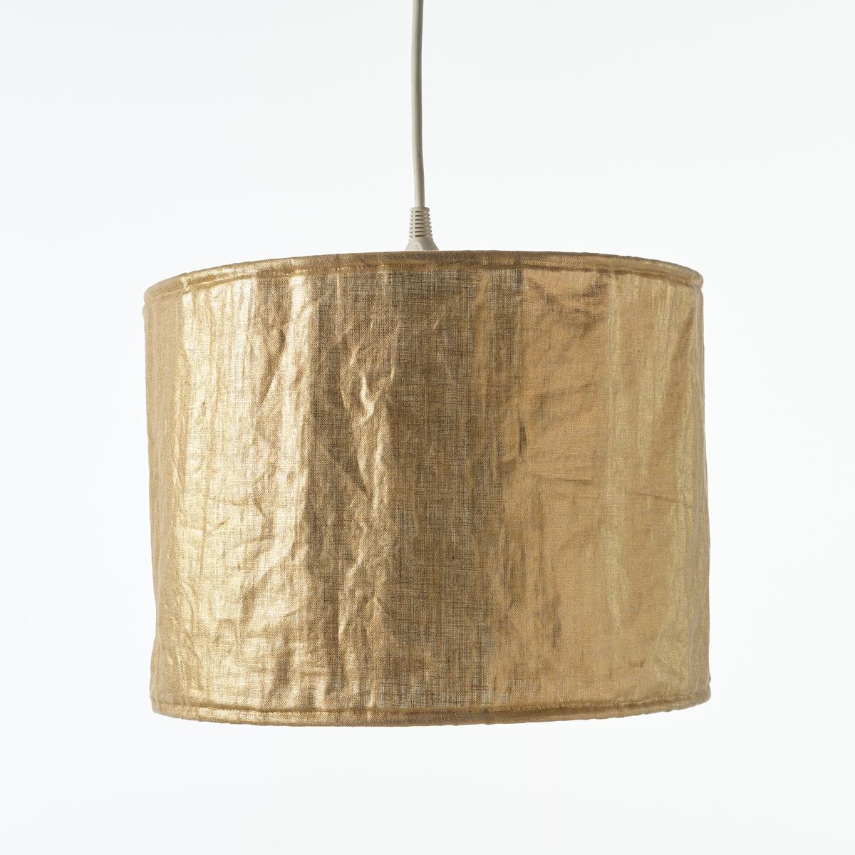 Люстра La Redoute Золотистого цвета из льна Goldyni диаметр 40 см золотистый комплект из полотенце для la redoute рук из хлопка и льна nipaly 50 x 100 см белый