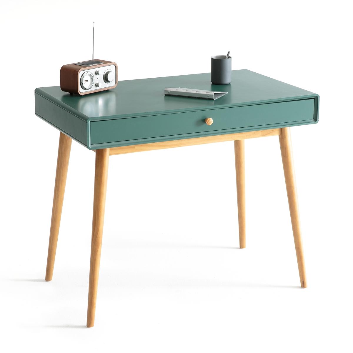 Стол La Redoute Письменный с ящиком JIMI единый размер зеленый